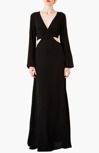 Main Image - Topshop Cutout Waist Jersey Gown