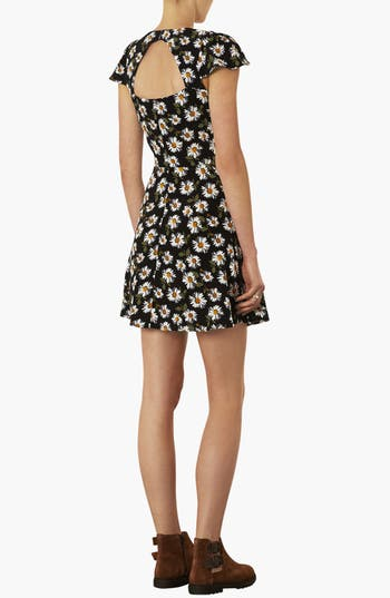 Alternate Image 2  - Topshop Daisy Print Tea Dress
