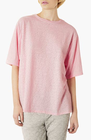 Alternate Image 1 Selected - Topshop Oversized Jacquard Tee