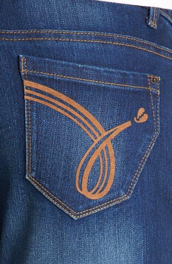Alternate Image 3  - Jolt Faded Skinny Jeans (Dark) (Juniors) (Online Only)