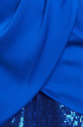 Alternate Image 3  - Aidan by Aidan Mattox Embellished One-Shoulder Blouson Dress