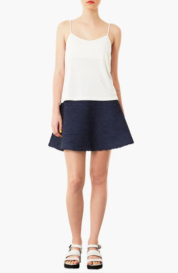 Alternate Image 4  - Topshop Ottoman Skater Skirt