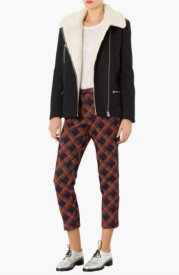 Alternate Image 4  - Topshop Wool Biker Jacket