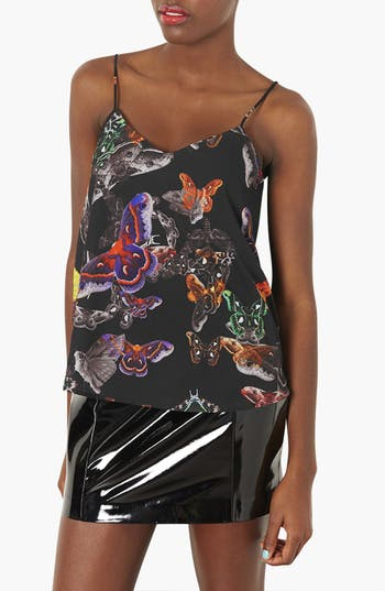 Alternate Image 1 Selected - Topshop Moth Print Camisole