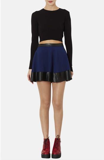 Alternate Image 4  - Topshop Contrast Hem Skater Skirt