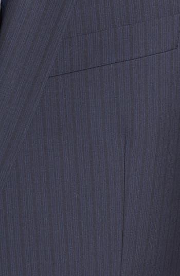 Alternate Image 5  - HUGO 'Amaro/Heise' Trim Fit Wool Blend Suit