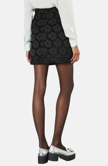 Alternate Image 2  - Topshop Floral Textured Skirt