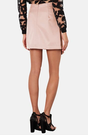 Alternate Image 2  - Topshop Faux Wrap Satin Skirt