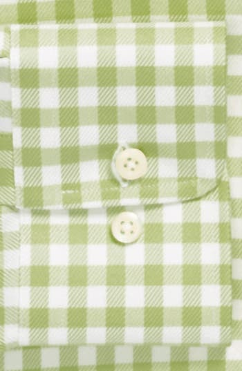 Alternate Image 2  - David Donahue Twill Gingham Regular Fit Dress Shirt