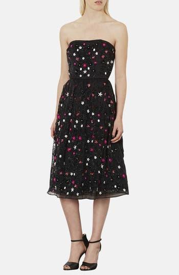 Main Image - Topshop 'Sweetie' Embellished Strapless Midi Dress