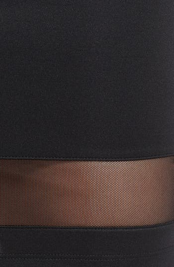 Alternate Image 3  - Lush Mesh Panel Body-Con Skirt (Juniors) (Online Only)
