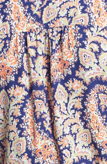Alternate Image 3  - Lush 'Kendal' Paisley Print Surplice Faux Wrap Dress (Juniors)