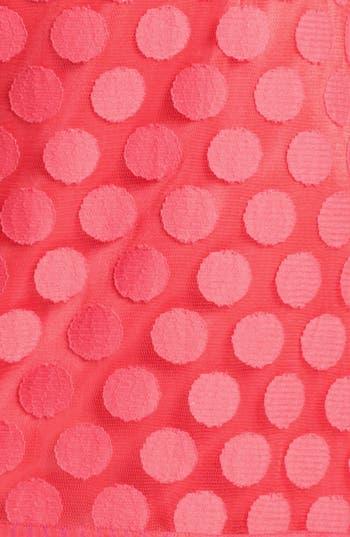 Alternate Image 3  - Laundry by Shelli Segal Polka Dot Lace A-Line Dress (Regular & Petite)