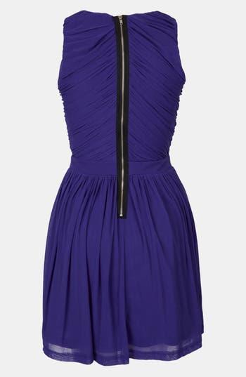 Alternate Image 2  - Topshop Ruched Wrap Bodice Skater Dress
