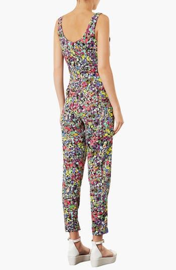 Alternate Image 2  - Topshop 'Pop' Floral Jumpsuit