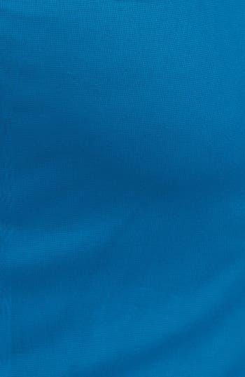 Alternate Image 3  - Xscape Lace Yoke Ruched Mesh Sheath Dress (Plus Size)