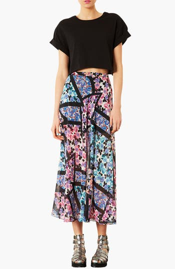 Alternate Image 3  - Topshop 'Cut About' Floral Maxi Skirt