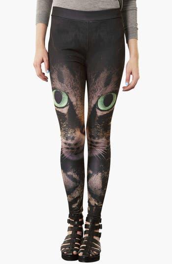 Main Image - Topshop 'Photo Cat' Print Leggings