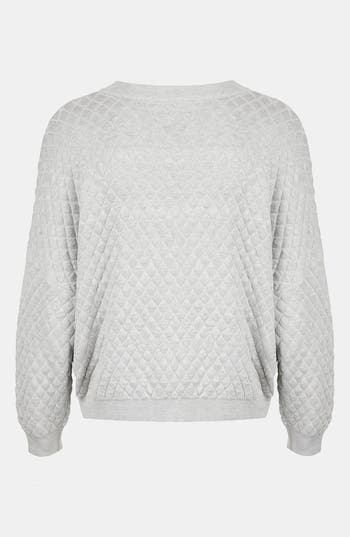 Alternate Image 2  - Topshop Quilted Sweatshirt (Petite)