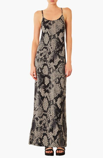 Alternate Image 1 Selected - Topshop Snake Print Maxi Dress