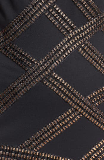 Alternate Image 3  - Tadashi Shoji Foil Detail Jersey Dress