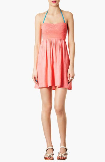 Main Image - Topshop Sweetheart Neckline Cover-Up