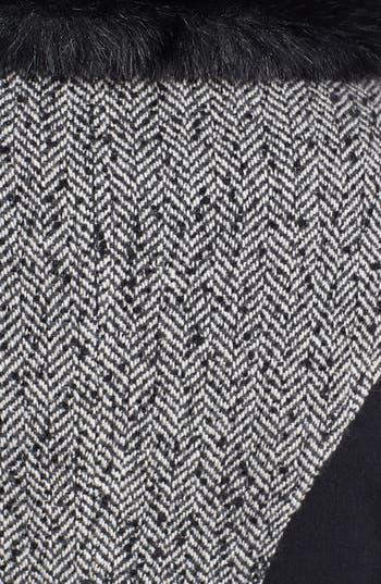 Alternate Image 3  - Betsey Johnson Faux Fur Collar Tweed Coat