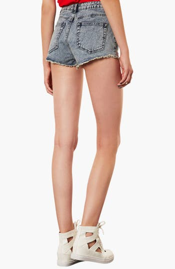 Alternate Image 2  - Topshop Moto 'Mexicana' Embroidered Denim Shorts