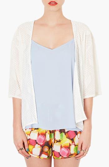 Alternate Image 1 Selected - Topshop Burnout Kimono Jacket