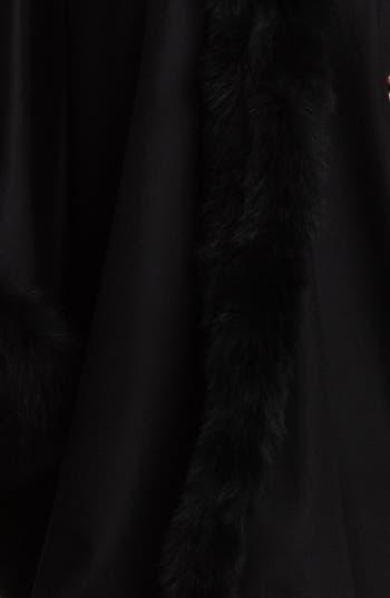 Alternate Image 3  - Caruana Genuine Fox Fur Trim Wrap (Plus Size)