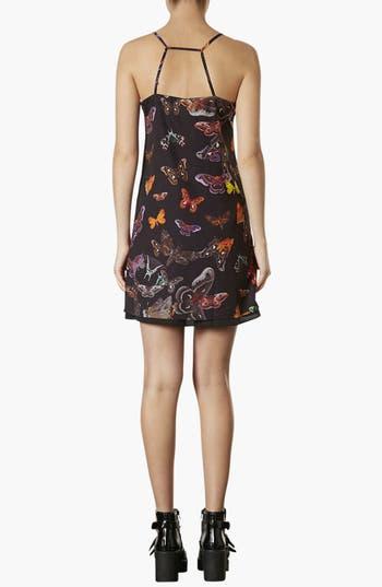 Alternate Image 2  - Topshop Moth Print Slip Dress