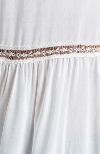 Alternate Image 3  - Lush Lace Trim Shirt (Juniors)
