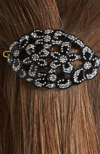 Alternate Image 2  - France Luxe 'Crystal Floral Oasis' Hair Clip