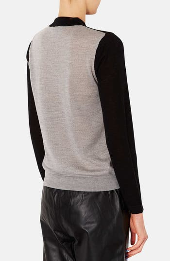 Alternate Image 2  - Topshop Colorblock Merino Wool Sweater
