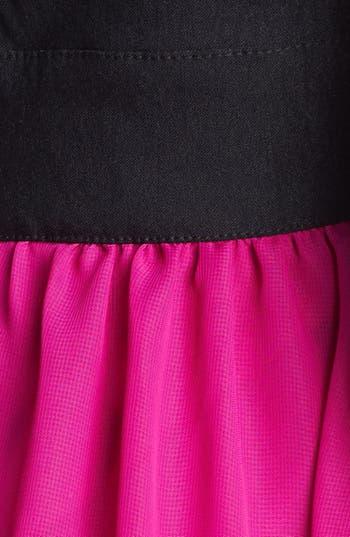 Alternate Image 3  - Trixxi High/Low Chiffon Dress (Juniors) (Online Only)