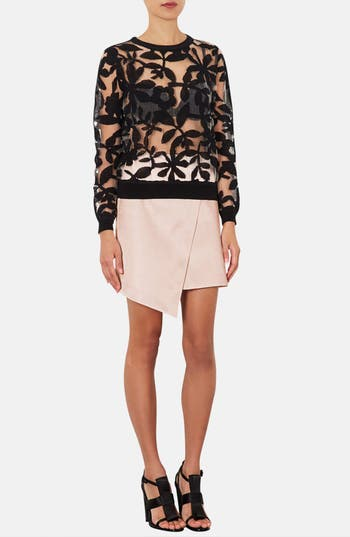 Alternate Image 4  - Topshop Faux Wrap Satin Skirt