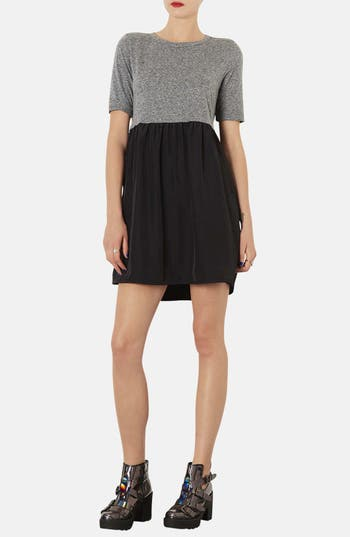 Main Image - Topshop Colorblock Smock Dress
