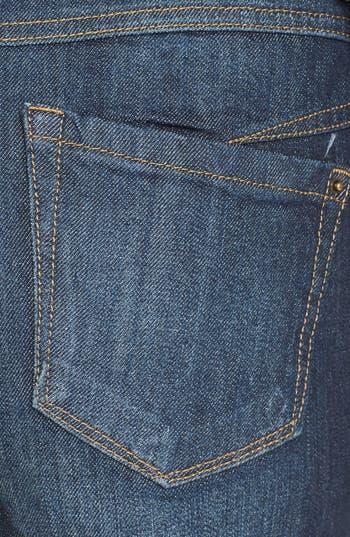 Alternate Image 3  - Jolt Button Fly High Waist Shorts (Dark) (Juniors)