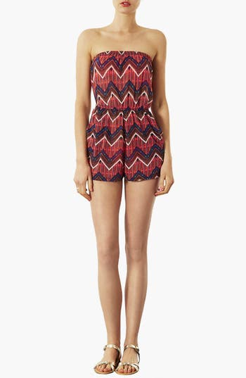 Alternate Image 1 Selected - Topshop Zigzag Print Romper