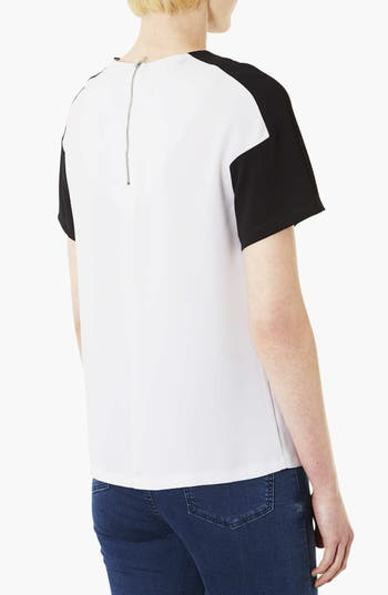 Alternate Image 2  - Topshop Mono Panel Tee