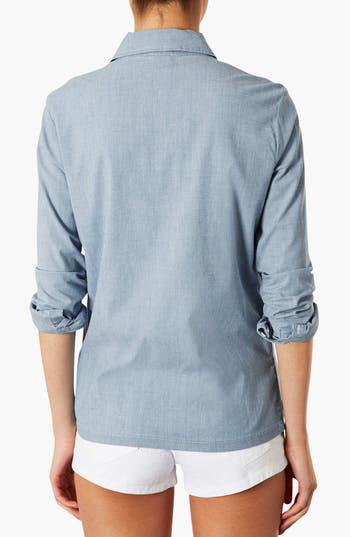 Alternate Image 2  - Topshop Moto Chambray Oxford Shirt