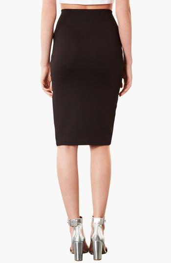 Alternate Image 2  - Topshop Textured Pencil Skirt