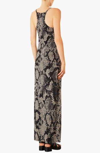 Alternate Image 2  - Topshop Snake Print Maxi Dress