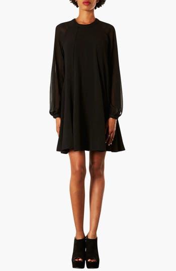 Main Image - Topshop Illusion Sleeve Chiffon Dress
