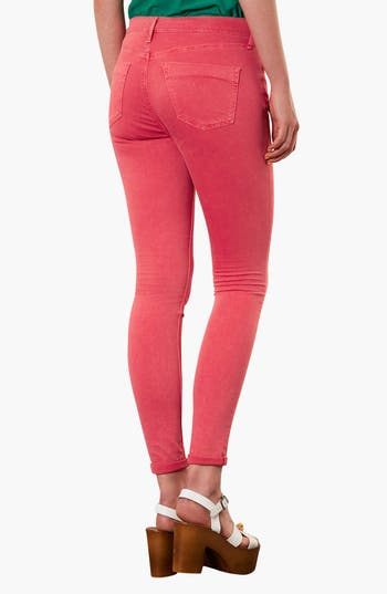 Alternate Image 2  - Topshop Moto 'Leigh' Skinny Jeans (Red)