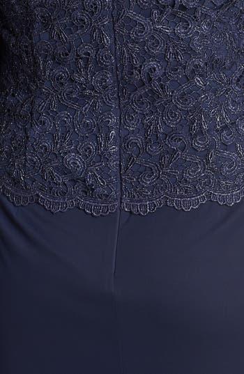 Alternate Image 3  - Alex Evenings Metallic Lace & Mesh Gown (Plus Size)