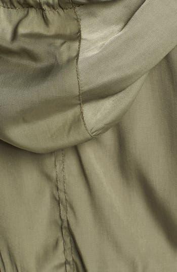 Alternate Image 3  - Angel Kiss Knit Sleeve Hooded Military Jacket (Juniors)