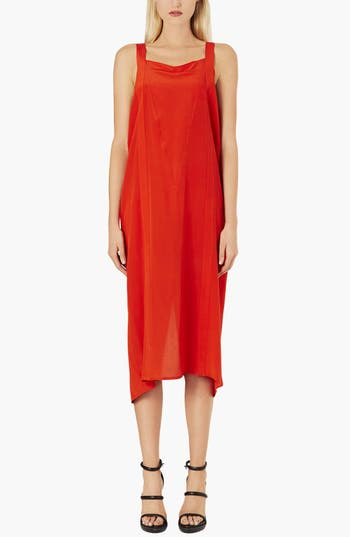 Alternate Image 1 Selected - Topshop Boutique Boxy Silk Slip Dress