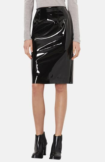Main Image - Topshop Vinyl Pencil Skirt