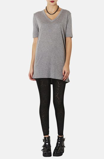 Alternate Image 4  - Topshop Burnout Velvet Leggings